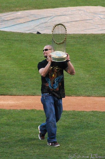 Victorino and the World Series Trophy - 304/365+1 - 10/31/08