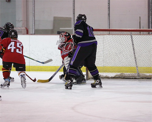 Maddie in the crease alone?   by u16panthers