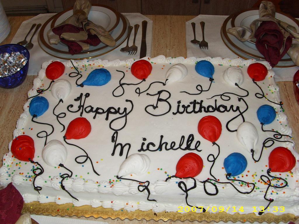 Strange Jan 2008 Birthday Cake For Michelle Obama At Ty Edmonds H Flickr Funny Birthday Cards Online Inifodamsfinfo