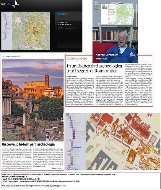 ROMA ARCHEOLOGICA - SITAR: Sistema informativo Territoriale Archeologico Roma (a cura di M. Serlorenzi [SSBAR]). Il giornata di studio (09/11/2011); & A. Carandini - Progetto: