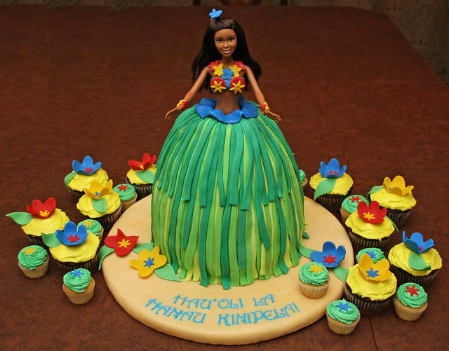 Hula Barbie Birthday Cake