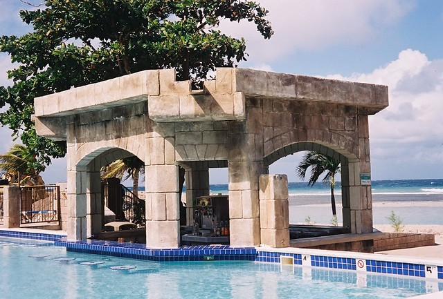 Jamaican pool bar in Montego Bay