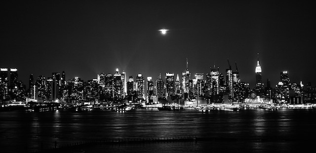 City Night Photography Black And White