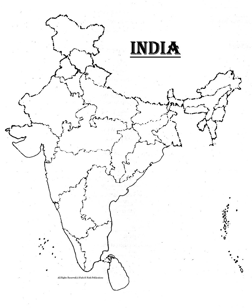 India Blank Map INDIA (BLANK MAP) | kpratikn | Flickr