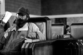 Man Waits For Train | by genshi