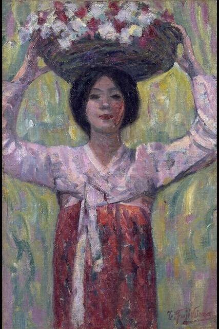 藤島武二「花籠」 (1913)