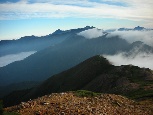alps japan sunrise trekking japanese hiking alpen japanalps