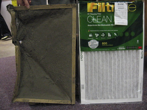 Angie changed the 312 furnace filter | by Collin Anderson