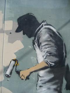 Banksy Corner Grey Ghost B   by Infrogmation