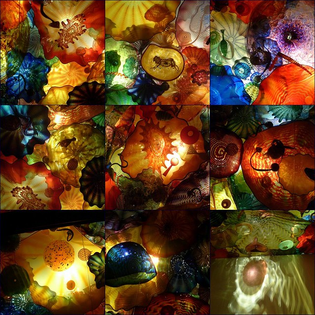 Chihuly Glass Flower Ceiling Mosaic
