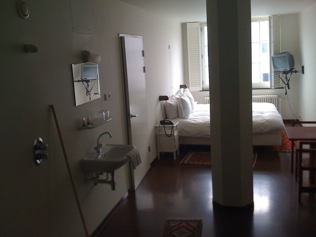 My room at the Lloyd hotel in Amsterdam
