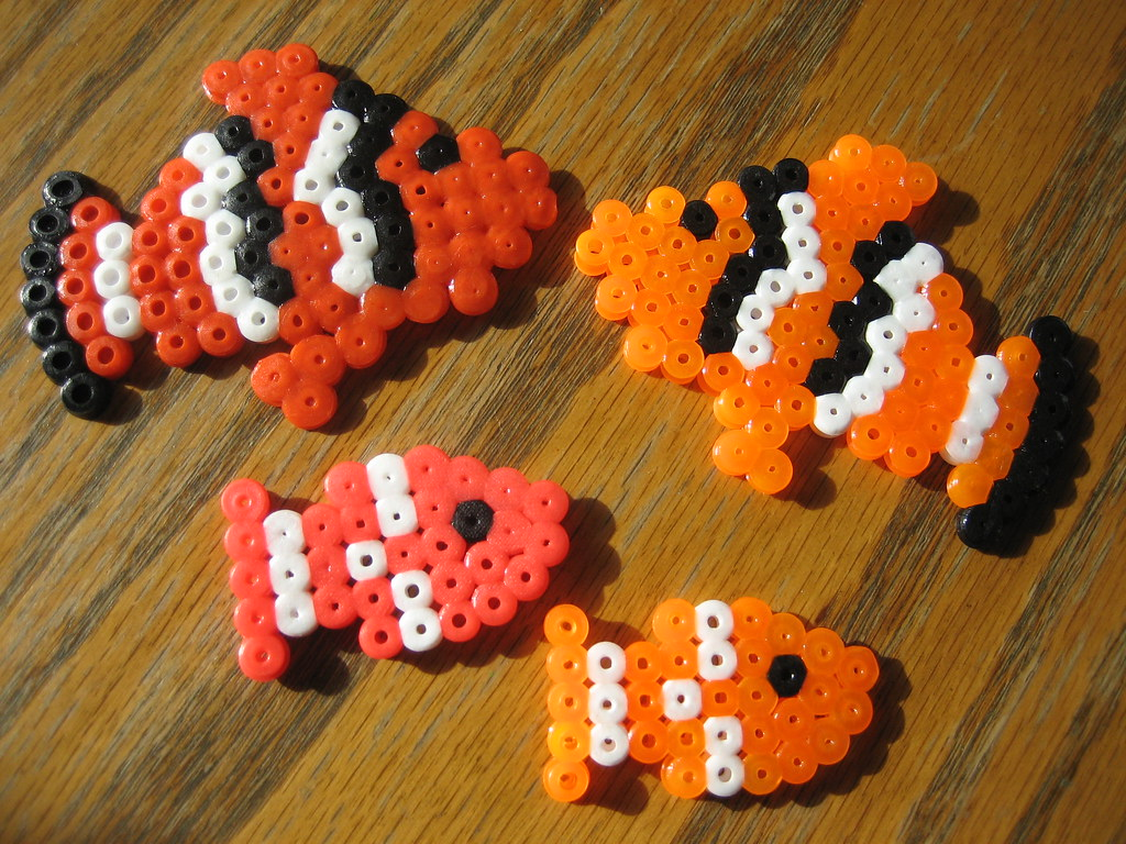 Perler Beads School of Fish | Perler Bead Photos, Ideas & Su