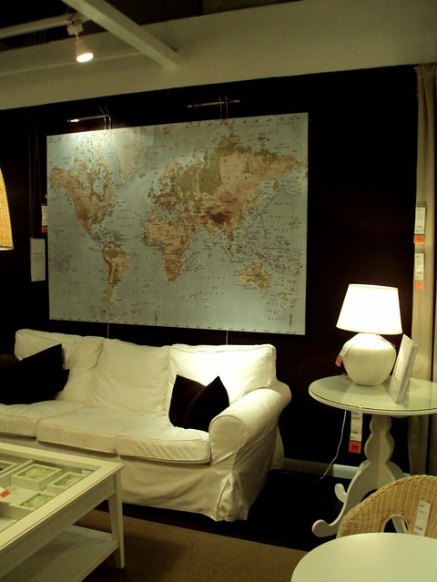 Ikea rp Sofa, World Map, and excellent wall color | Flickr Ikea World Map Table on pepsi world map, philips world map, hp world map, johnson world map, the church of lds missions world map, dunkin donuts world map, craigslist world map, carrefour world map, sotheby's world map, modge podge world map, barnes & noble world map, grandin road world map, earth tone world map, pizza hut world map, ireland location in world map, kohl's world map, public-domain vintage world map, bank of america world map, anthropologie world map, crate and barrel world map,