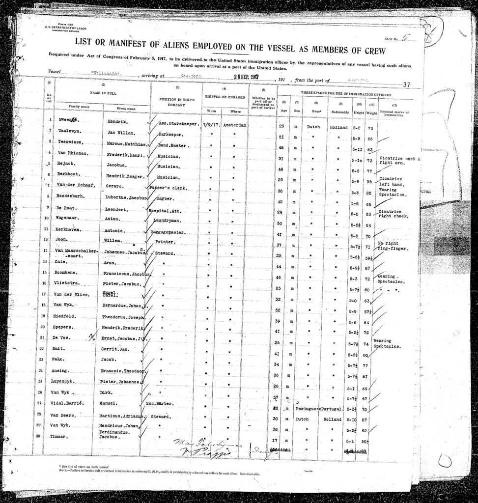 Ellis Island Ship Manifest showing the ship my greatgrandfather was on