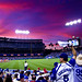 Dodger Fans Tried To Rally Their Team, But the Sky Turned Philadelphia Crimson and Foretold the Outcome as the Phillies Were Ultimately Victorious by Redfishingboat (Mick O)
