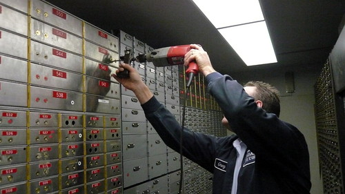 Drilling out my safe-deposit box, TD-Canada Trust, Bay and Bloor, Toronto, Canada 2.JPG | by gruntzooki