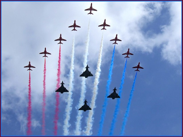 RAF fly past - Up above