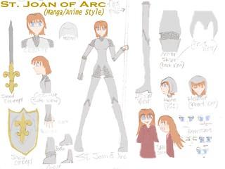 St. Joan of Arc Manga Style