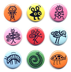 Bugs buttons | by dindolina