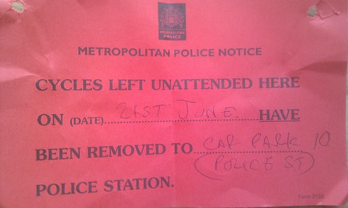 The notice of my unattended bicycle's removal | by benaston