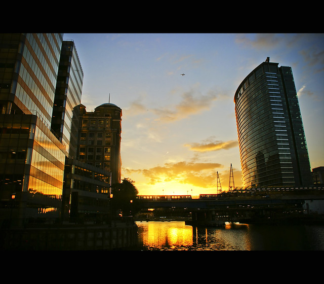 Sunset at Canary Wharf