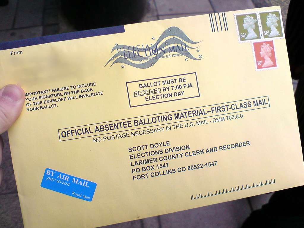 2008 US Election Ballot Envelope with British Stamps