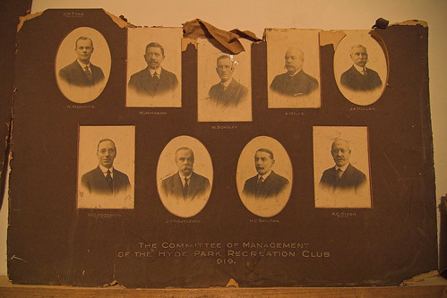 The Committee of Management of the Hyde Park Recreation Club 1919. | by rikj