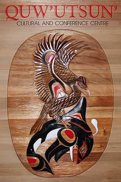 Carving at Quw'utsun' Cultural & Conference Centre, Duncan, Vancouver Island, British Columbia, Canada