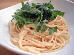 shiso flavor spaghetti with cod roe | by Takanori Ishikawa
