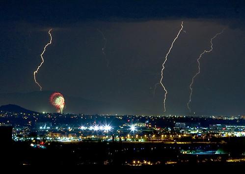 arizona usa phoenix america fireworks unitedstatesofamerica july az monsoon scottsdale lightning 4thofjuly independenceday lightningbolt phoenixarizona lightningstrike onlythebestare
