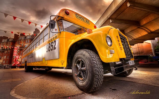 Yellow school bus..