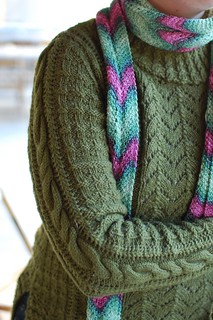 Nichole's pretty sweater & scarf | by Jessica MF