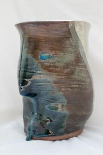 Handmade Ceramic planter - face design