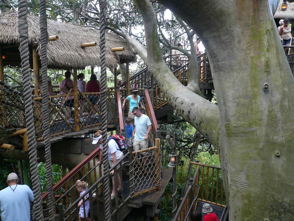 Rope Bridge in Swiss Family Robinson Tree House Magic King… | Flickr