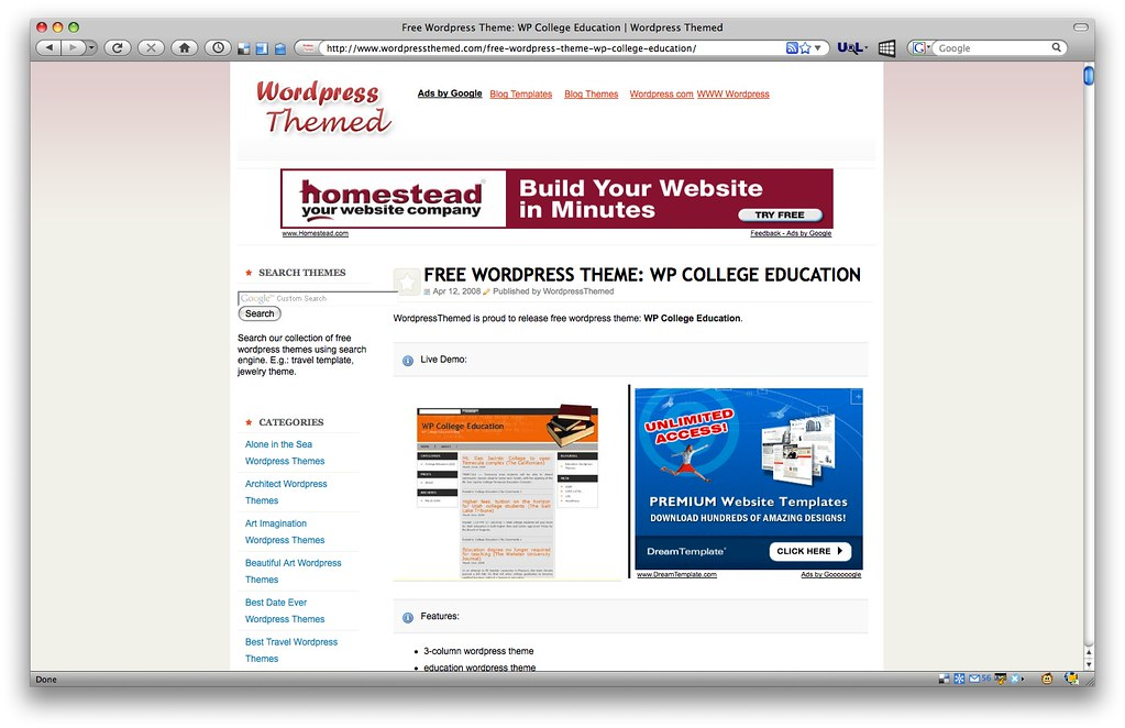 WP College Education Theme - www.wordpressthemed.com/free ...