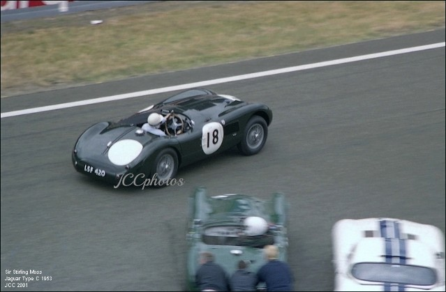 Le Mans Historic 2001, Sir Stirling Moss, Jaguar Type C 1953