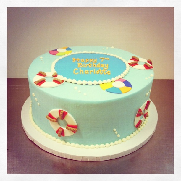 Excellent Summer Birthday Cake Polkadots Olga Flickr Personalised Birthday Cards Cominlily Jamesorg