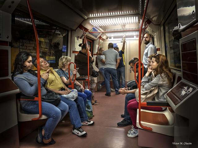 Escenas del Metro de Madrid...