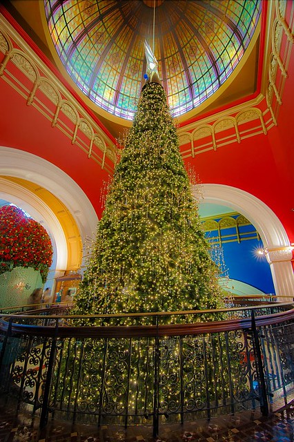 Christmas Tree in Queen Victoria Mall in Sydney