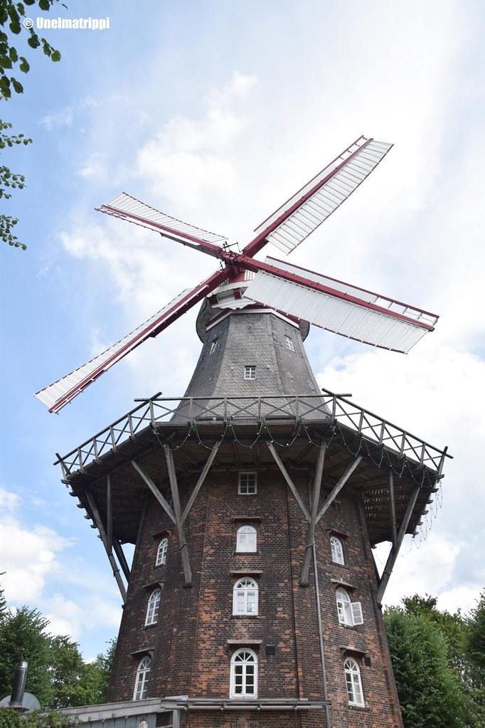 Tuulimylly Das Viertelin kulmalla