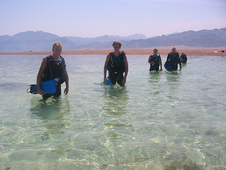 Heading for a dive at the Islands, Dahab, Egypt