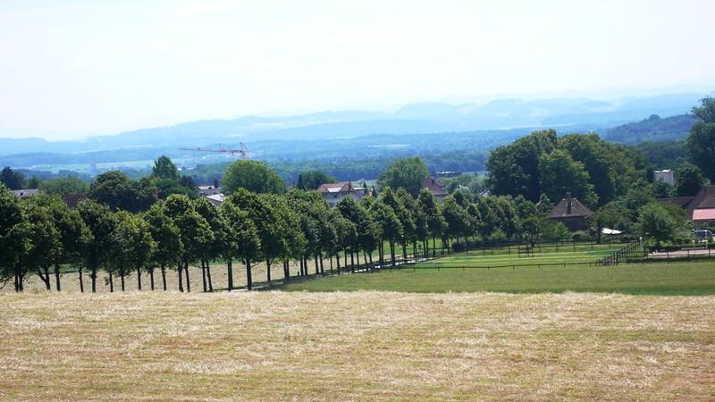 View over Bernese Plain from castle Waldegg