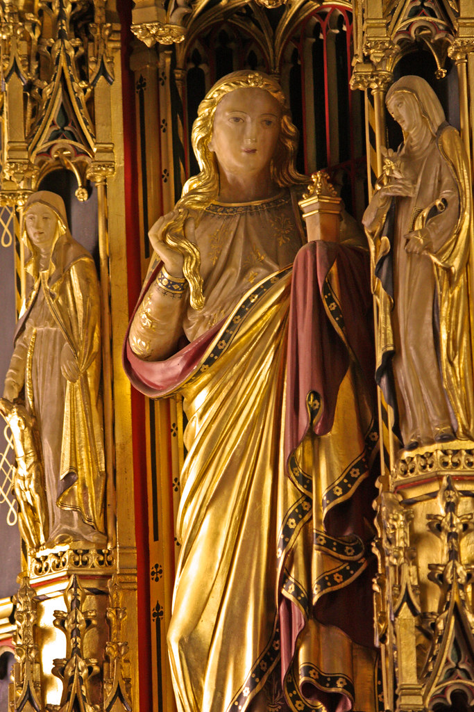Alabaster statue of St Mary Magdalene