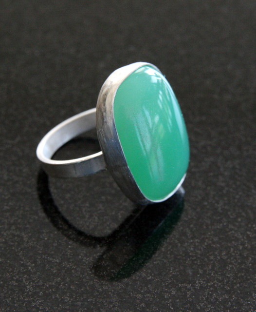 Chrysopraise And Sterling Silver