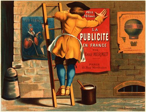 La publicité en France par Emile Mermet, advertising poster, ca. 1880   by trialsanderrors