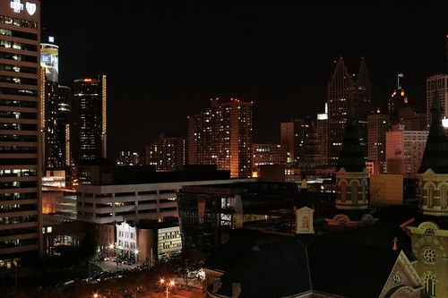 Detroit by Night   by let's call this the quiet city