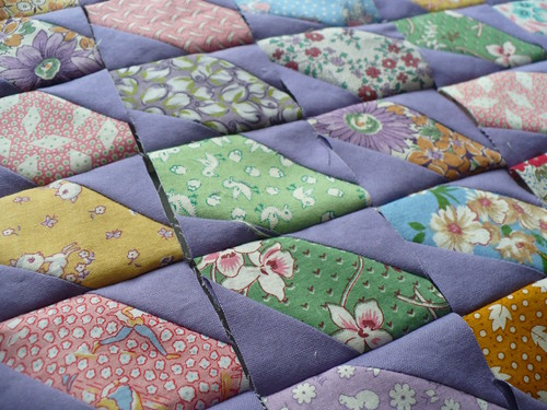 lavender doll quilt WIP