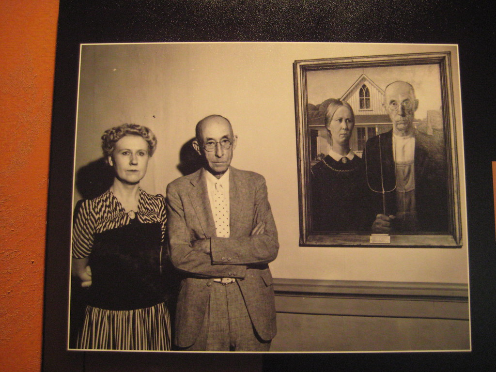 Posing By Their Likeness In American Gothic