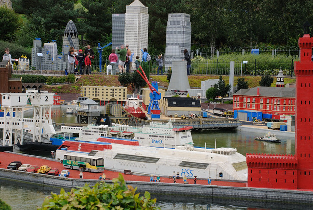 Lego Models | the model of Canary Wharf dwarfs the people