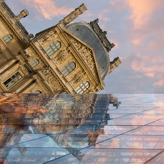reflection at the pyramid of Louvre in Paris | by David-Duchens